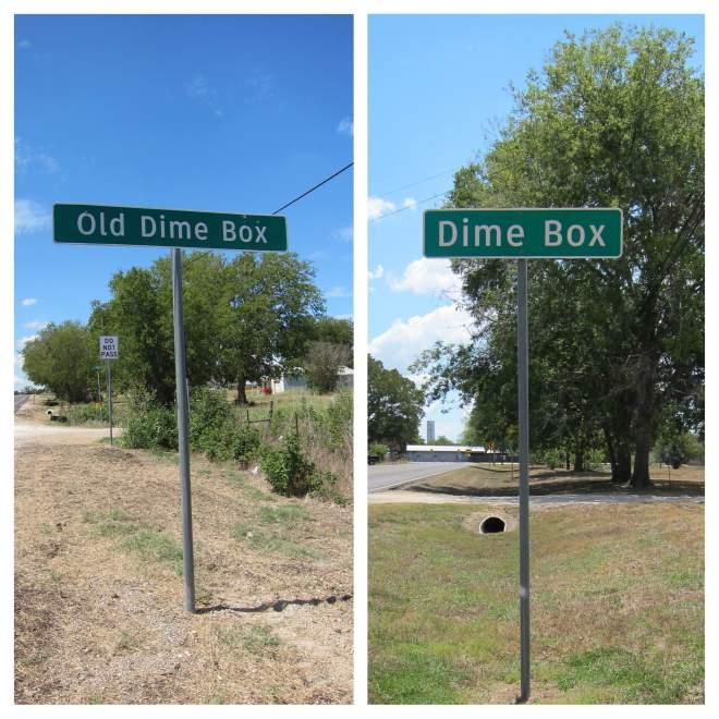 Dime Box Road Signs