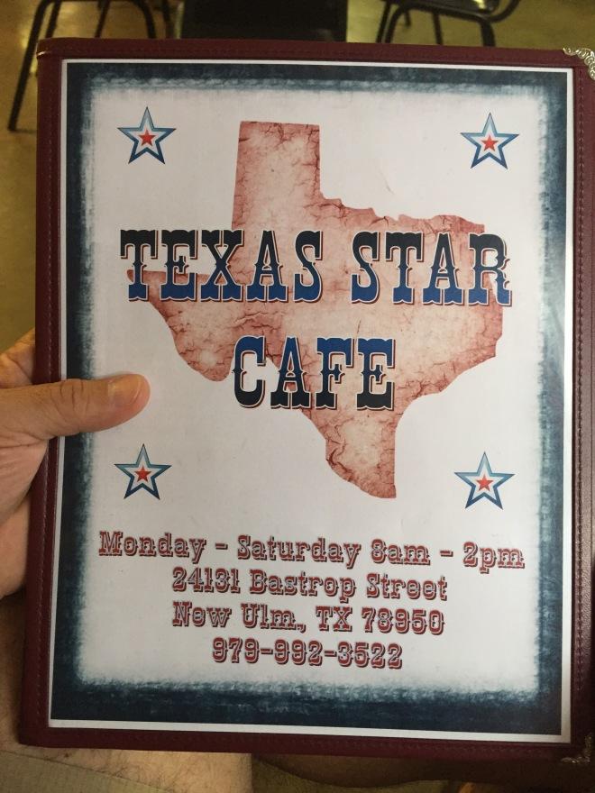 Texas Star Cafe Menu