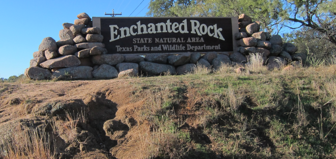 Enchanted Rock Entrance