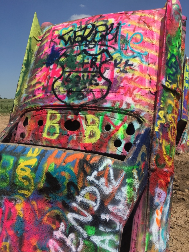 Cadillac Ranch Car Closeup