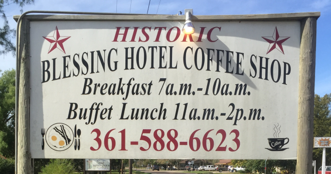 Hotel Blessing Sign