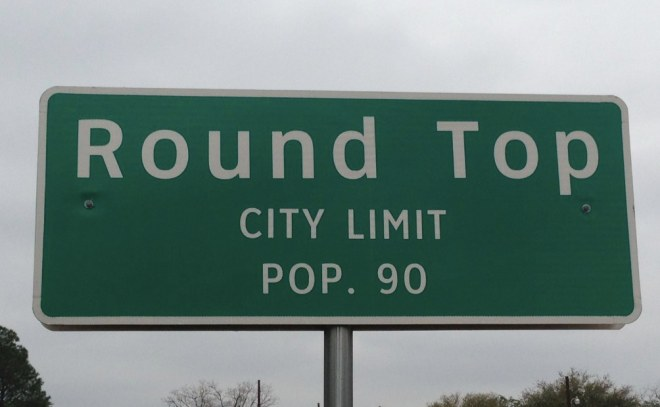 Round Top City Limit Sign