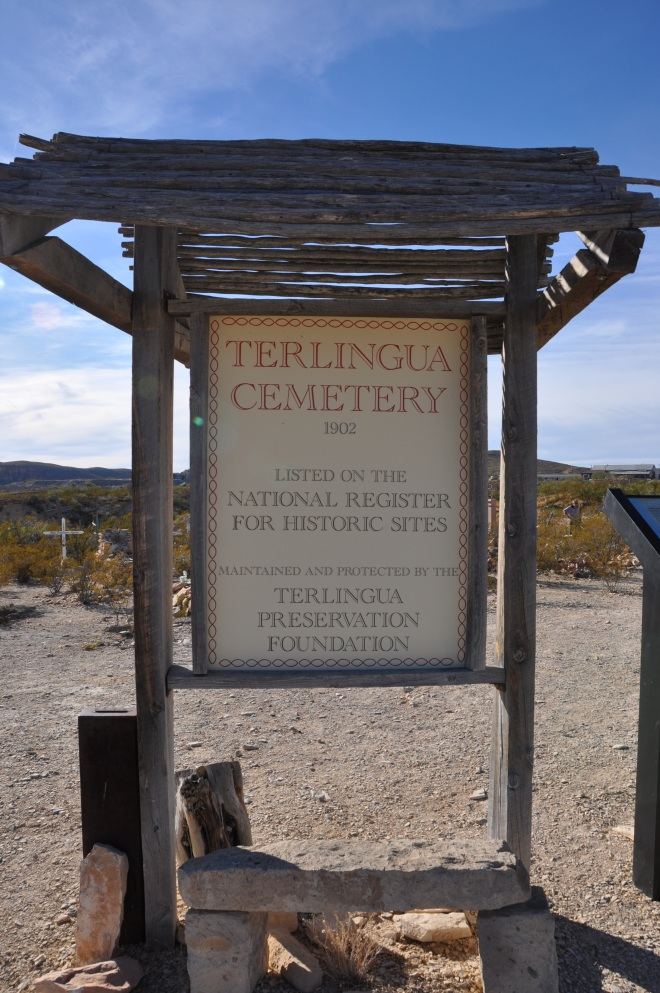 Terlingua Cemetery Sign