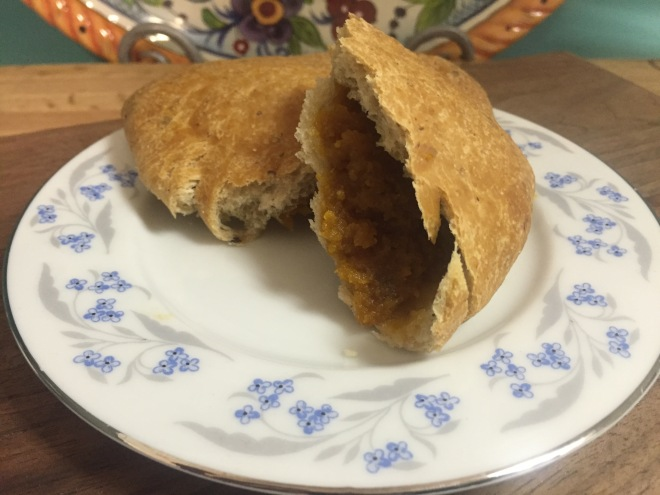 Empanada, the Spanish version of a fruit-filled turnover.