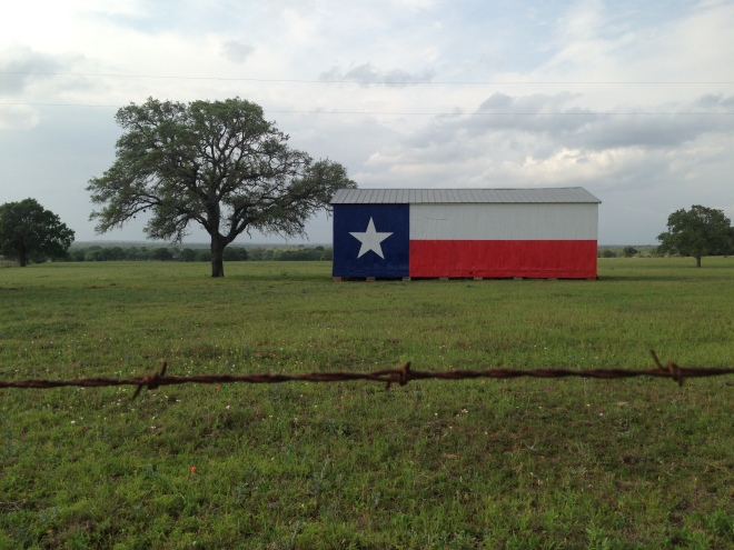 Texas Flag Barn