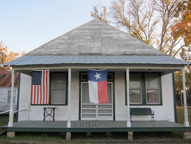 Texas Flag Porch