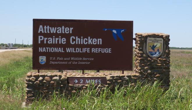 Attwater Refuge Sign