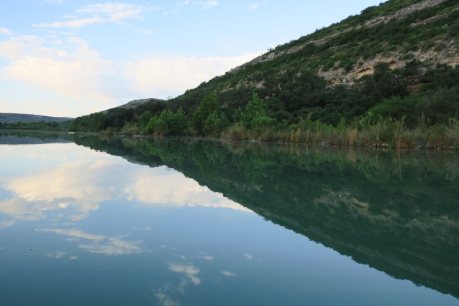 Devils River Bank Reflection