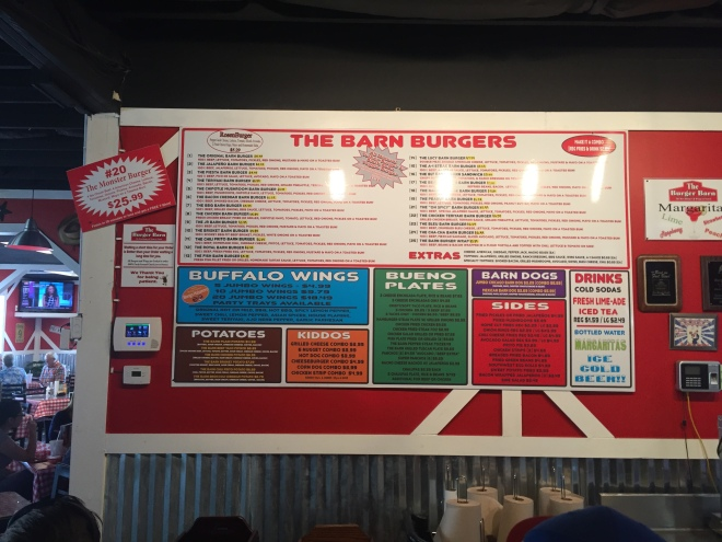 Burger Barn Menu