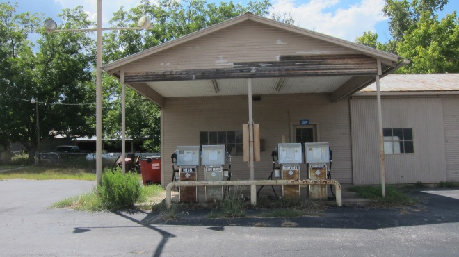 Four Pump Gas Station