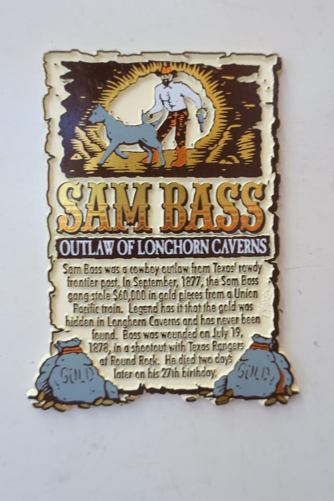 Sam Bass Plaque